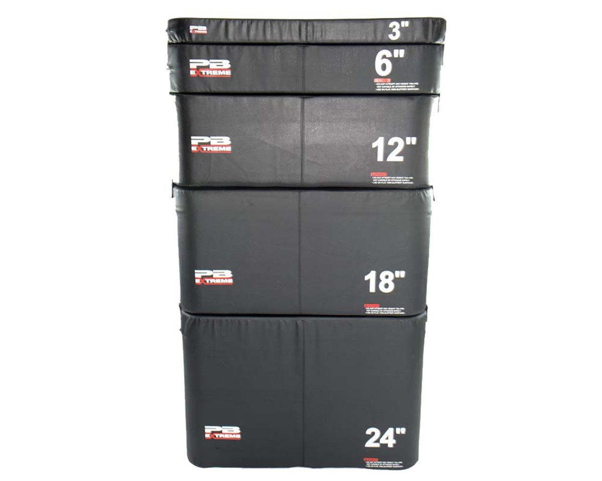 PB Extreme Soft Plyo Box schwarz - 8 cm - einzeln