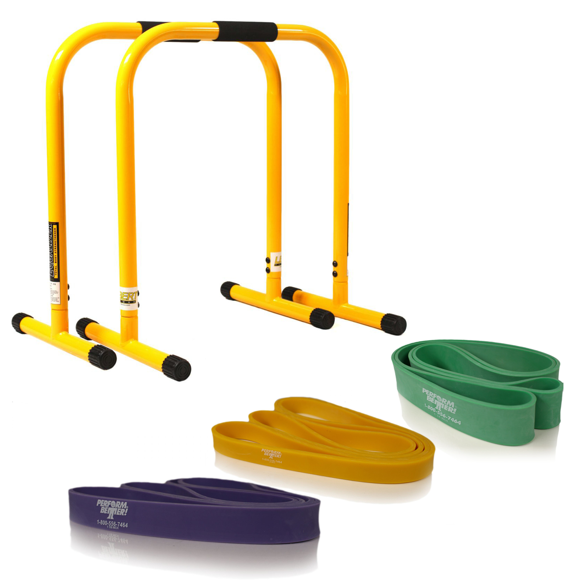 Lebert Equalizer gelb + Superband lila, gelb, grün (Set)