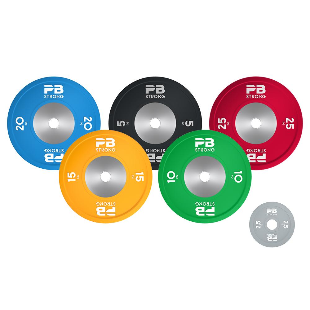 PB Strong Wettkampf Hantelscheibe (Stk) Grau 2,5 kg