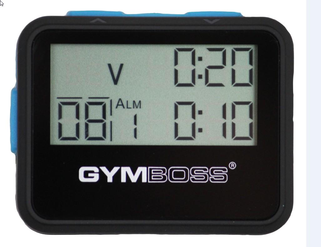 Gymboss® Intervall Timer - schwarz/blau