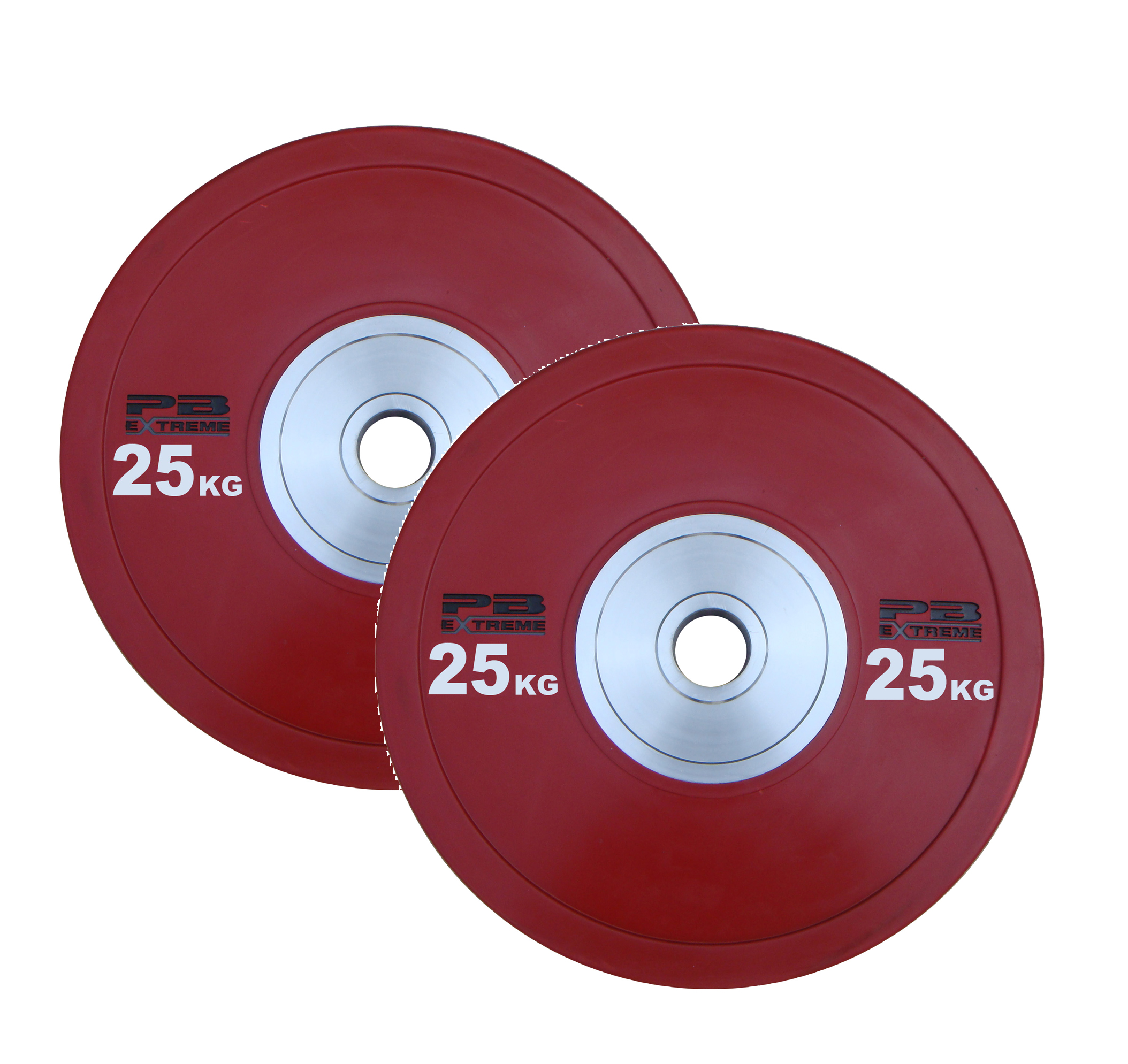 PB Extreme Competition Bumper Plate - Rot 25kg (Paar)