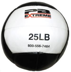 PB Extreme Soft Medizinbälle - Schwarz/Weiß 25 lbs (11,36 Kg)