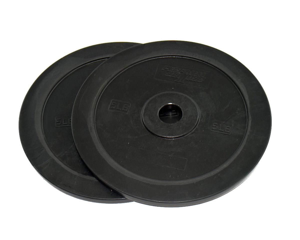 Gummi Bumper Plates - 25 kg Schwarz (Paar)