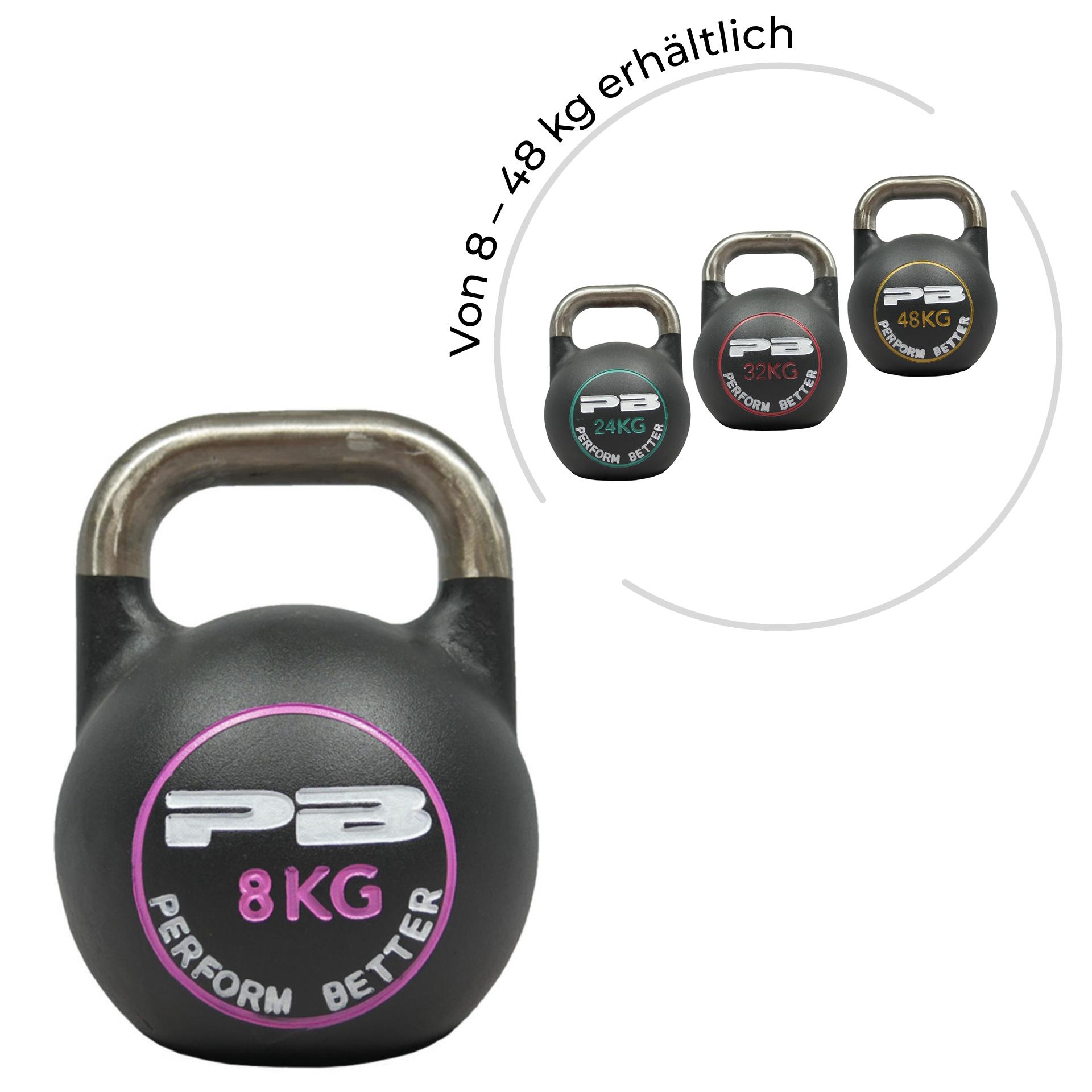 First Place Competition Kettlebells - Schwarz/Pink 8 kg
