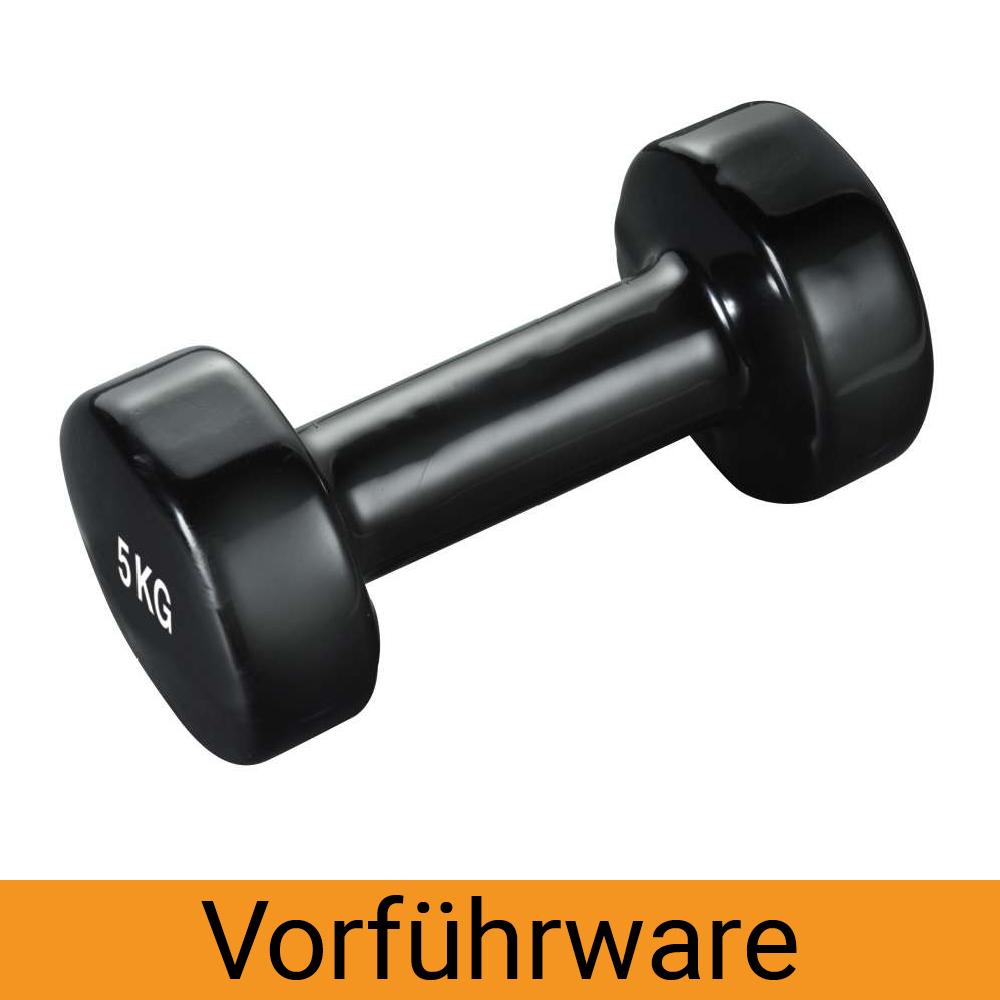 Vinyl Hanteln - 4kg (Stück) schwarz (Vorführware)