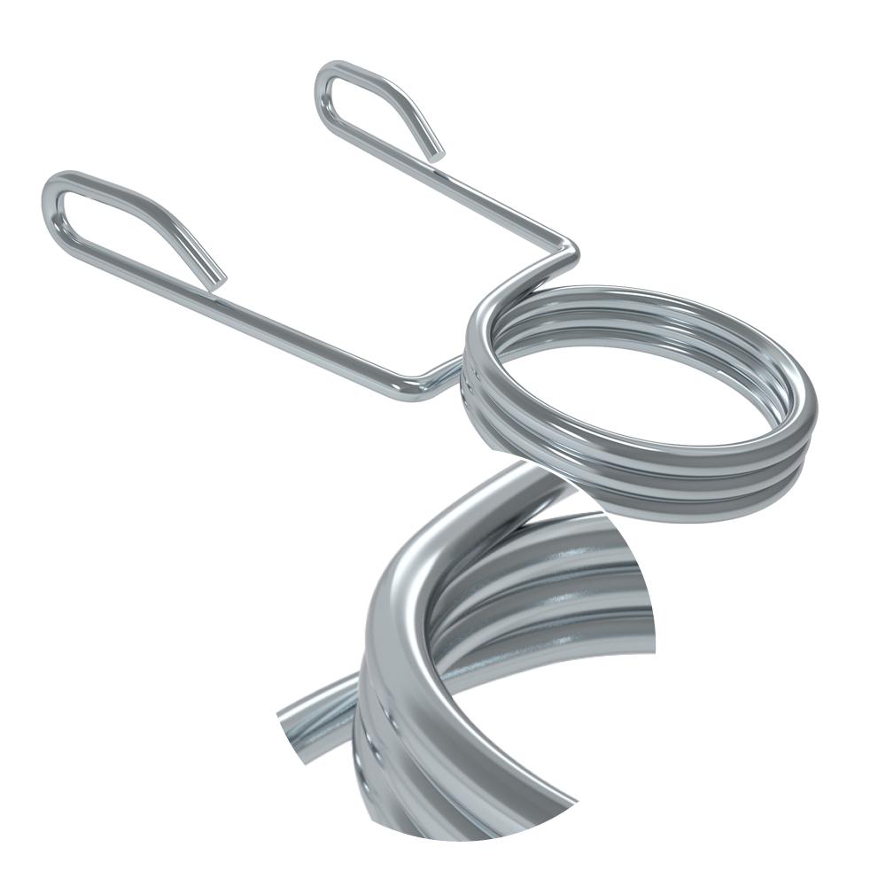 PB Strong Hantelstangen Federverschluss Chrom (Paar)