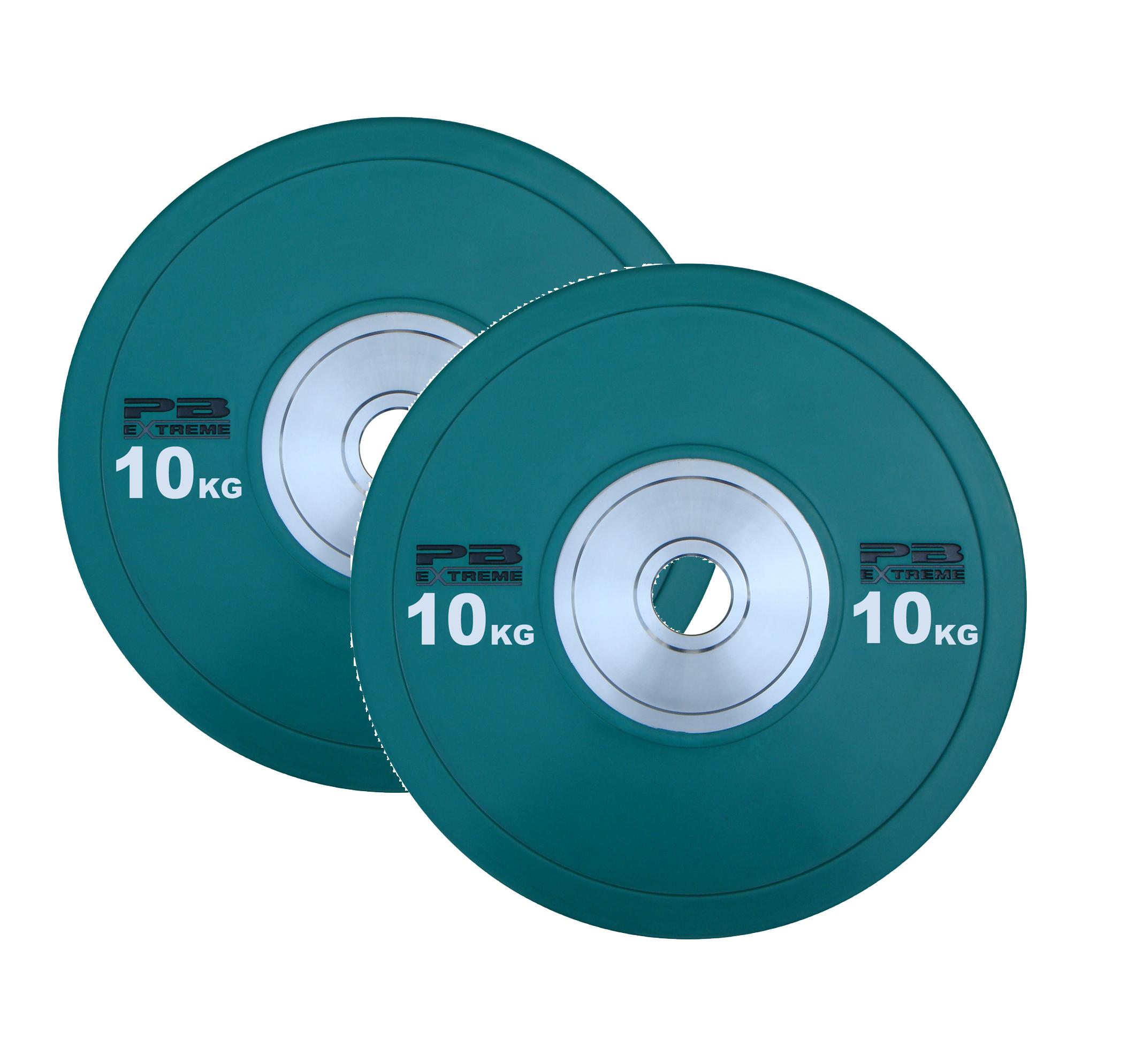 PB Extreme Competition Bumper Plate - Grün 10kg (Paar)