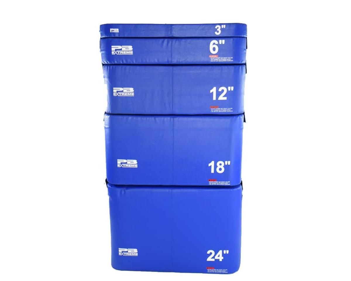 PB Extreme Soft Plyo Box blau - 3er Set (15/30/45 cm)